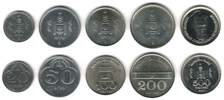 Рис.4. Номиналы тугрика в монетах.
