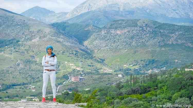 Я на крепости в Леже, достопримечательности Албании