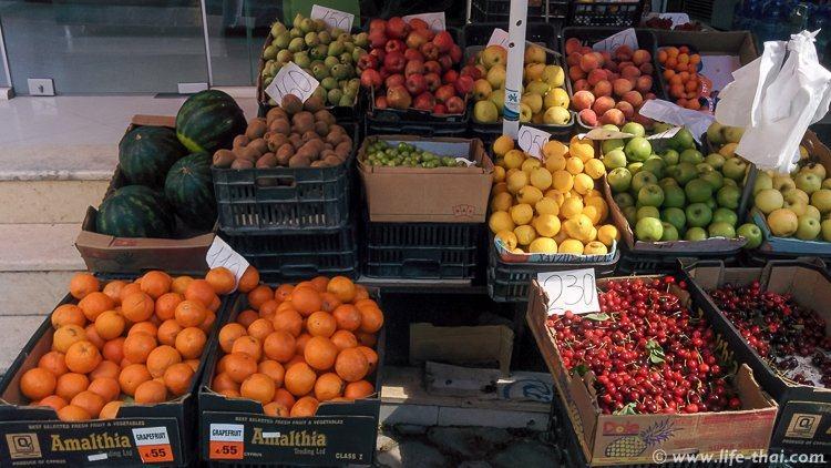 Цены на фрукты в Албании