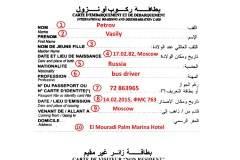 Миграционная карта Туниса
