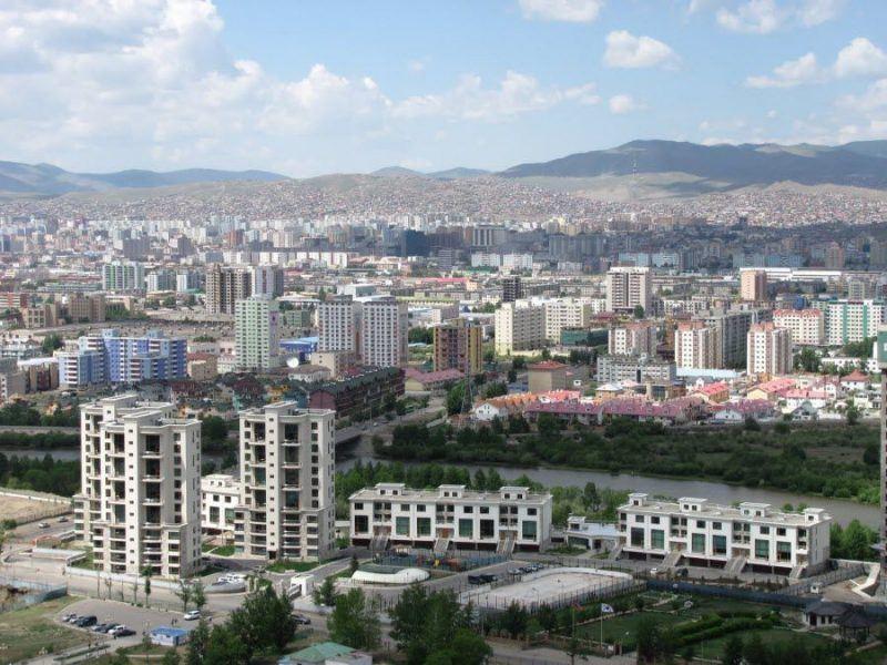 Панорама Монгольской столицы Улан-Батора фото