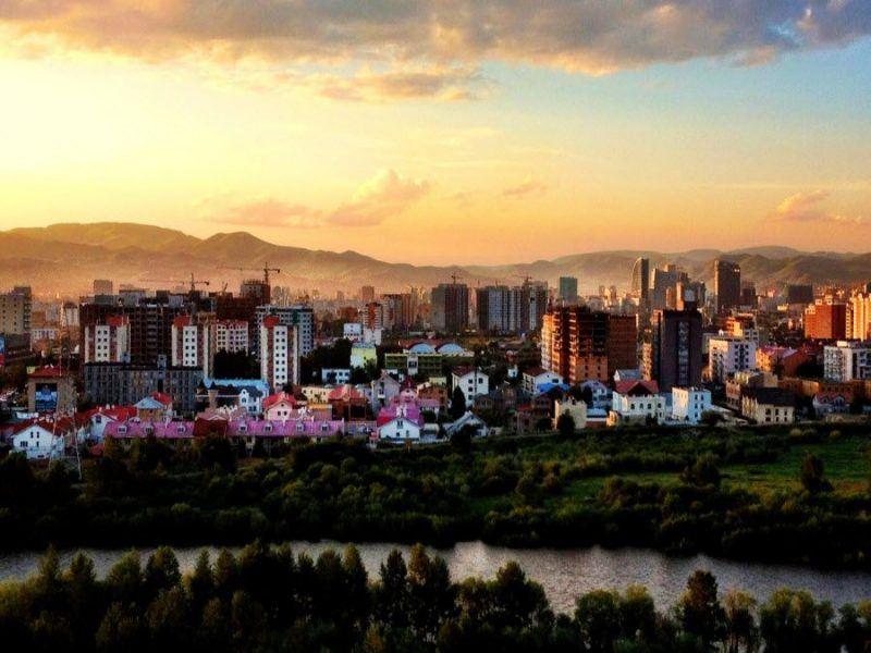 Фото Улан-Батор на закате