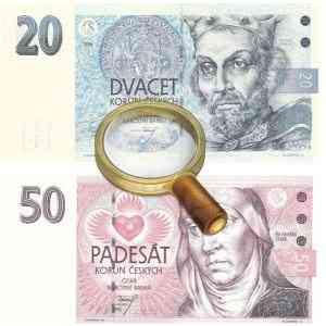 Банкноты 20 и 50 крон - выведены из оборота