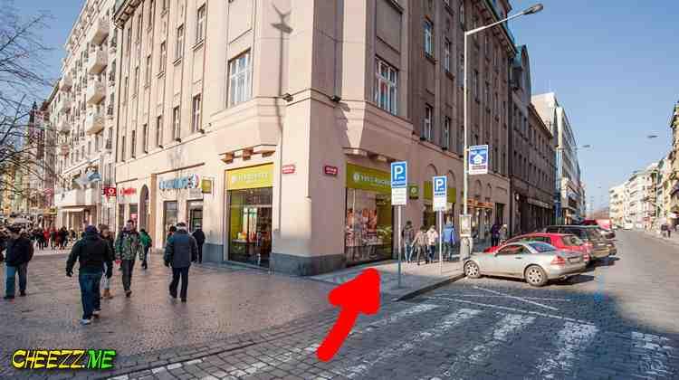 Обмен денег в Праге на Вацлавской площади