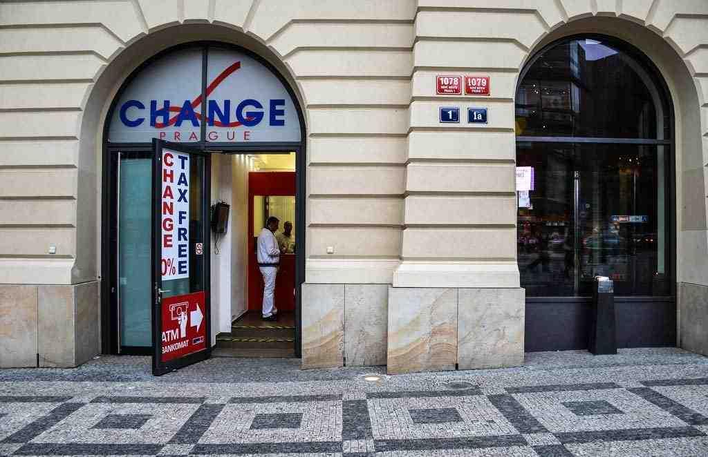 Арабские обменники в Праге. Альфа Прага