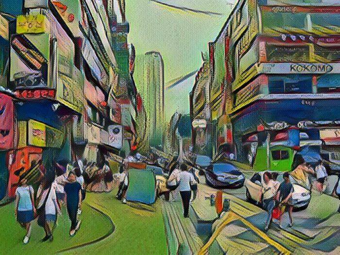 Корейский город