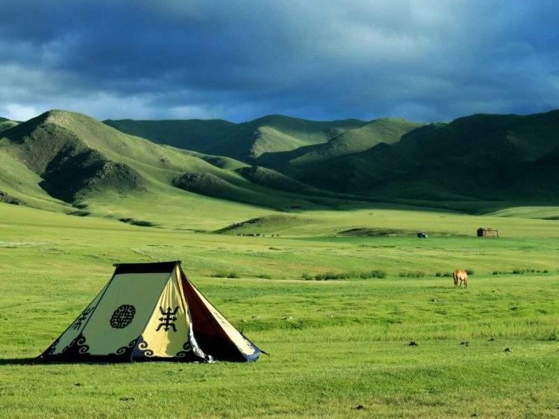 Фото завораживающей степи в Монголии