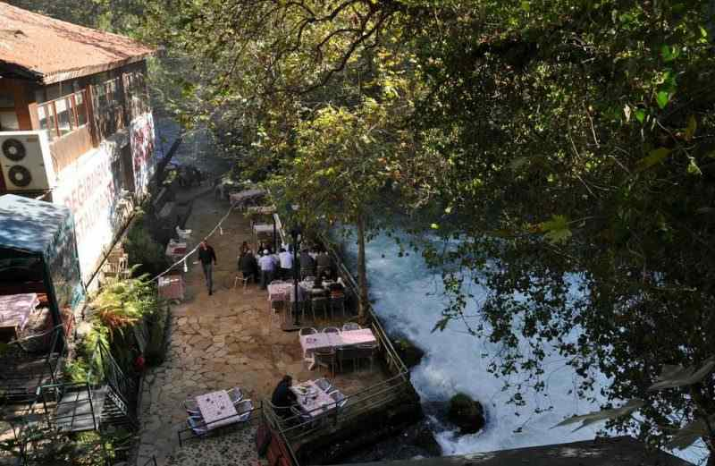 Кафе возле водопада Верхний Дюден