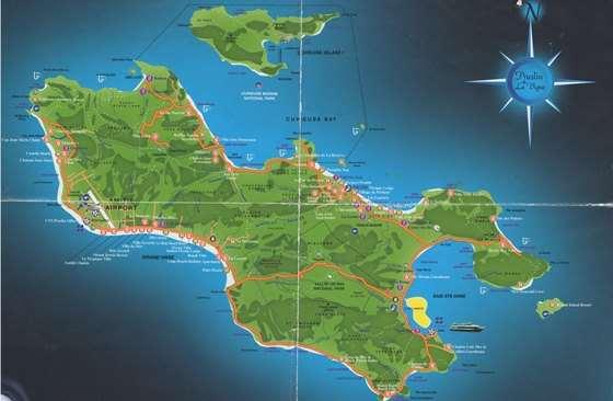 Детальная карта острова Праслин 3