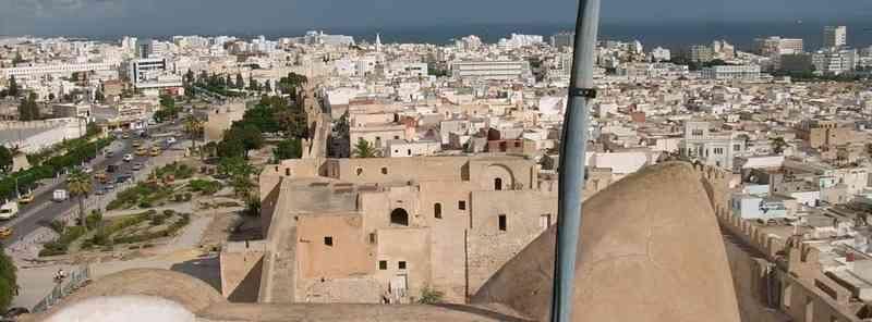 Вид с башни Калеф аль-Фата на современный Сусс