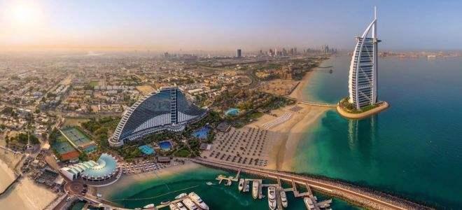 Вид на побережье ОАЭ