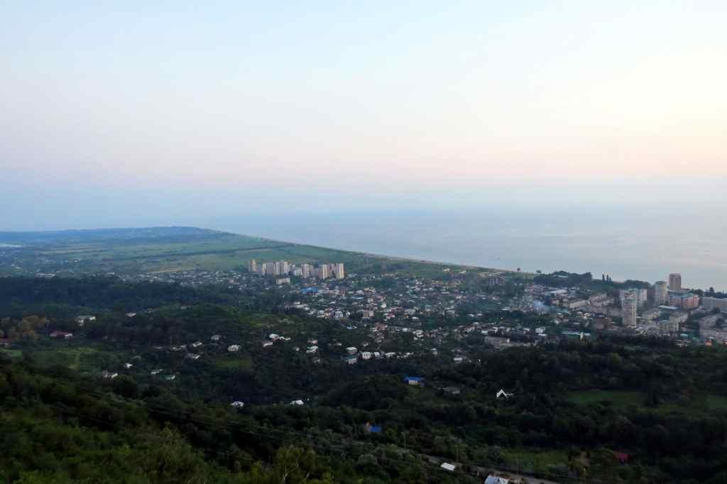 Гагра, Абхазия, Мамзышха, смотровая площадка
