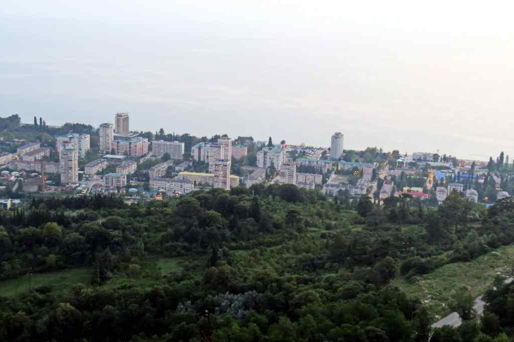 Гагра, Абхазия, смотровая площадка, Мамзышха