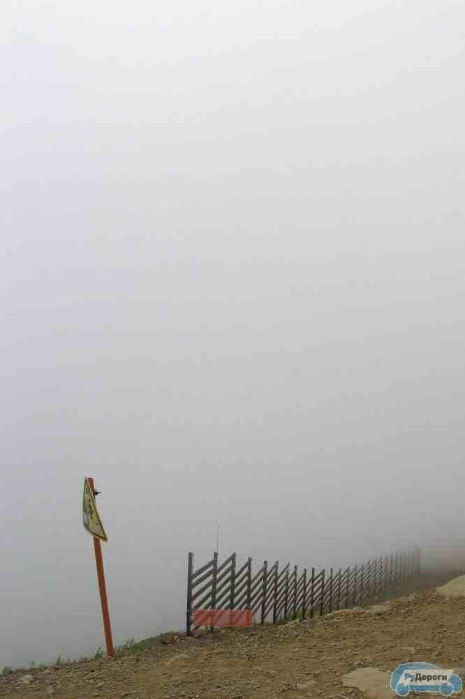 Канатная дорога в тумане