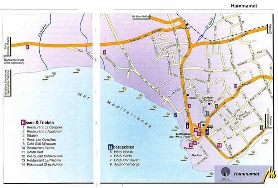 Детальная карта Хаммамета 1