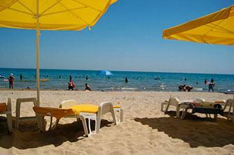 Пляж на Севане