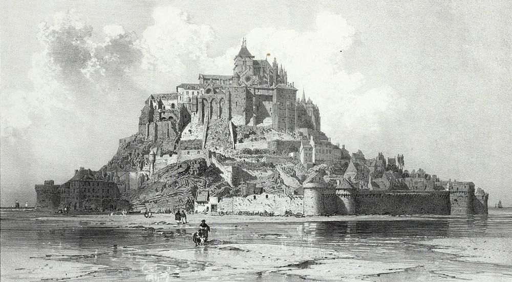Политическая тюрьма в Мон-Сен-Мишель, гравюра 1842 года