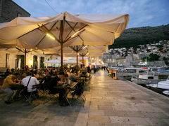 Цены в ресторане Дубровнике (Хорватия), Ресторан на набережной