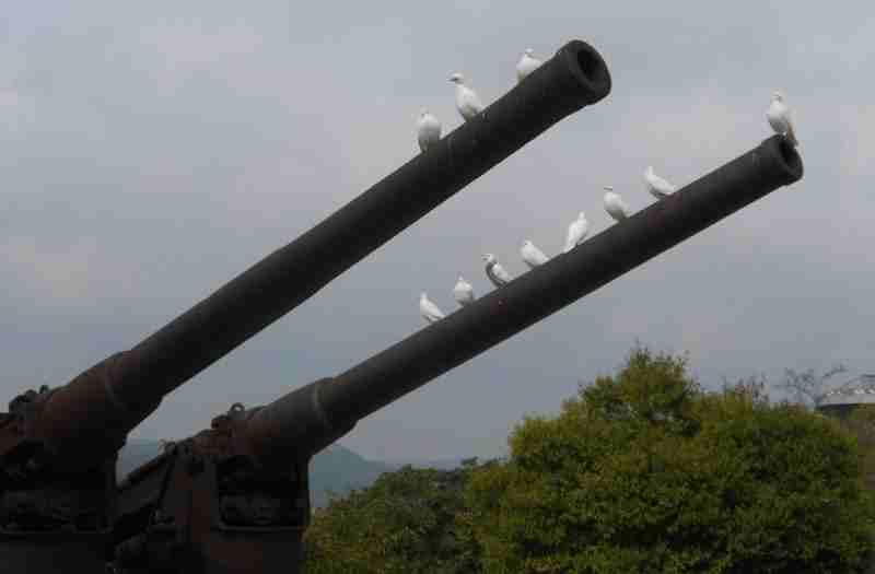 Далянь. Пушки голуби Порт-Артур